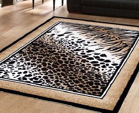 The Good Rug Company Large Modern Rug Animal Print Out Of Africa Serengetti Leopard 1.15m x 1.6m (4 x 53 Approx) product image