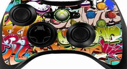 the grafix studio Graffiti Xbox 360 Remote Controller/Gamepad Skin / Vinyl Cover / Vinyl Decal xbr4