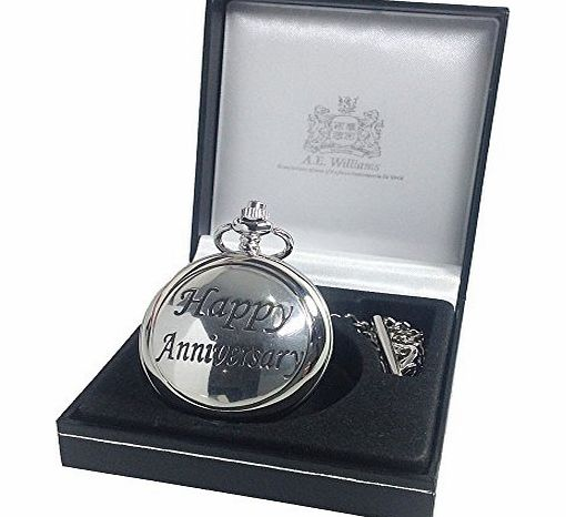 The Great Gifts Company 50th Wedding Anniversary Gift Engraved Pocket Watch With Pewter Happy