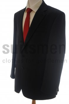 The Label 2 Button Charcoal Birdseye Suit product image