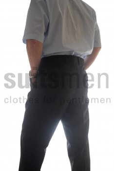 The Label Birdseye Plain Fronted Suit trousers product image
