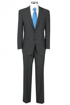 The Label Grey Herringbone Single Breasted Suit Jacket product image