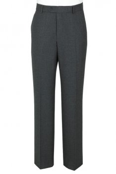 The Label Grey Plain Fronted Suit Trousers product image