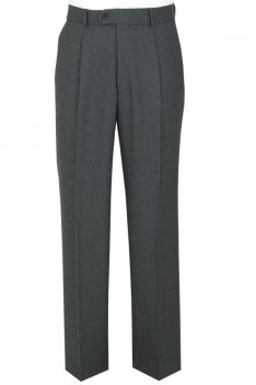 The Label Grey Single Pleat Suit Trousers product image