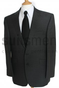 The Label Plain Grey or Black Herringbone Suit product image