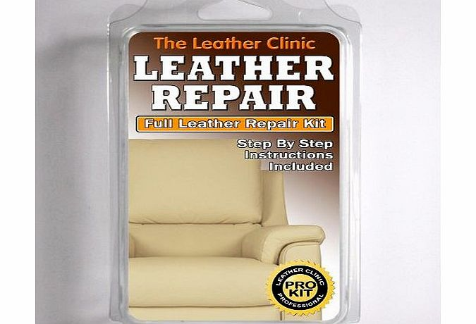 the leather clinic light cream leather sofa amp chair repair kit for