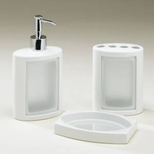 Lugano LFS02 Freestanding Bathroom Accessory Set.  Containing: Soap Dispenser. L102mm x H196mm x D78 - CLICK FOR MORE INFORMATION