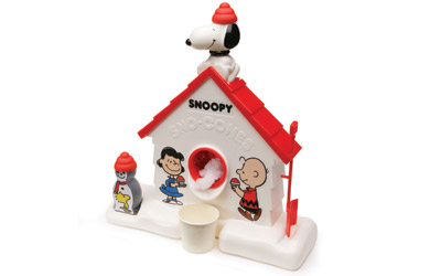 For now there is a Snoopy-branded gadget to make flavoured ice. And your children - or just the big  - CLICK FOR MORE INFORMATION