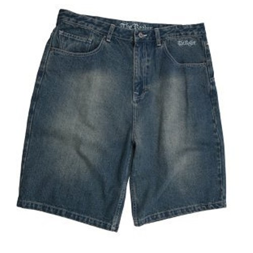Mens The Realm Kids Bopper Denim Walkshorts Light Indigo