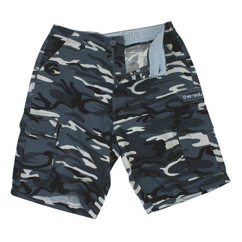 Mens The Realm Kids Corporal Walkshorts Steel Grey