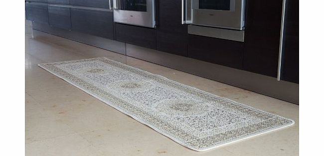 The Rug House Classic Style Cream Non Slip Flat Weave Cheap Hall Runner Rug 001 16 Panama - 9 Sizes Available product image