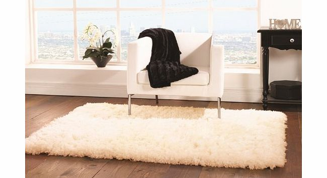 The Rug House Small-Large Affordable Quality Ivory Faux Sheepskin Style Rug 4 Sizes- Deluxe product image