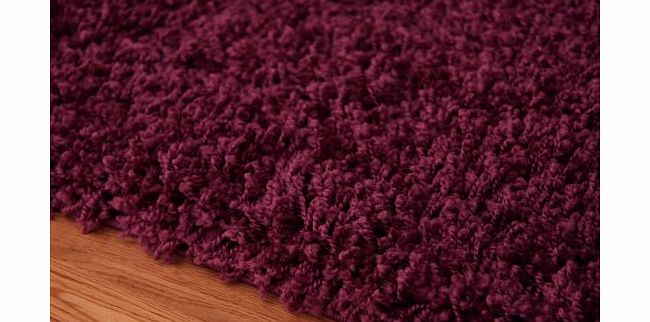 The Rug House THICK SOFT LUXURY AUBERGINE SHAGGY RUG 9 SIZES AVAILABLE 60cmx110cm (2ft x 3ft7``) product image