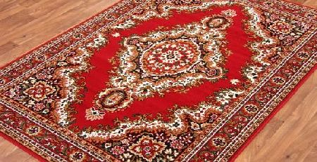 The Rug House Traditional Red Medallion Rug 80cm x 150cm (2ft 7`` x 4ft 11``) product image