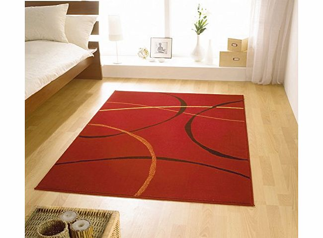 The Rug Seller RETRO HALLWAY RUNNERS AND RUGS 9255 277 RED product image