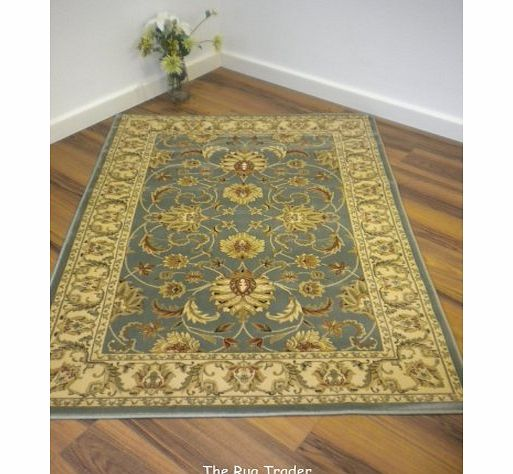 The Rug Trader Kendra Traditional Rug 45L Green Cream 80cm x 140cm product image