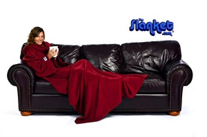The Slanket Blanket With Sleeves Chocolate product image