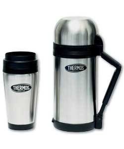 1 litre stainless steel flask. Black Bedroom Furniture Sets. Home Design Ideas
