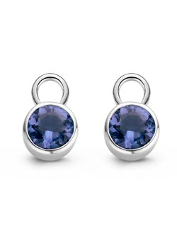 Silver and Blue Stone set Earring
