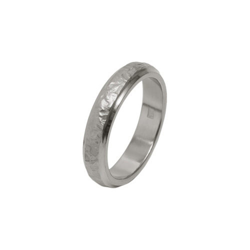 4mm Hammered Finish Ring in Titanium by Ti2