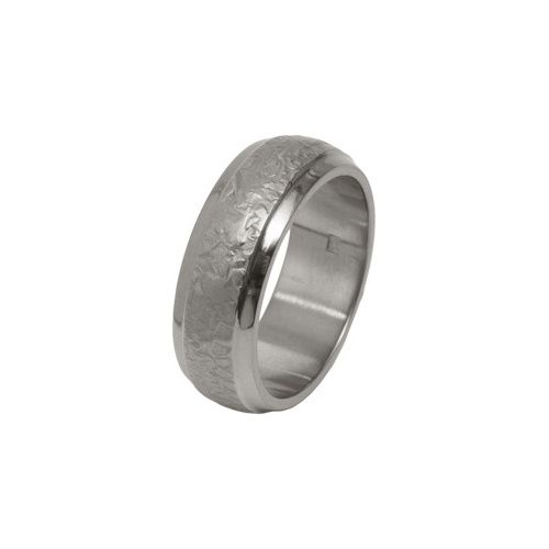 8mm Hammered Finish Ring in Titanium by Ti2