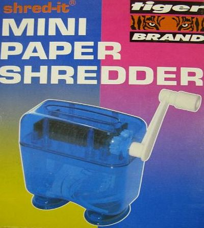 Tiger shred it mini manual hand powered paper shredder product image