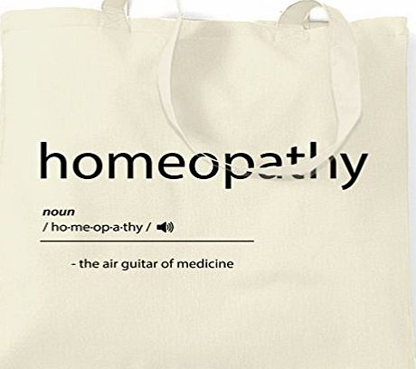 Tim And Ted Homeopathy The Air Guitar Of Medicine Alternative Quack Shopping Carrier Tote Bag.