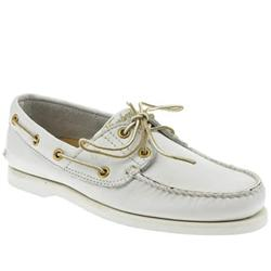Male Boatshoe Lux Leather Upper Fashion Large Sizes in White
