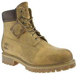 Male Classic 6 Authentic Leather Upper Casual Boots in Natural