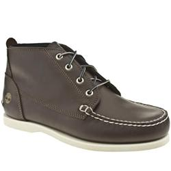 Male Classic Boat Chukka Leather Upper Casual Boots in Brown