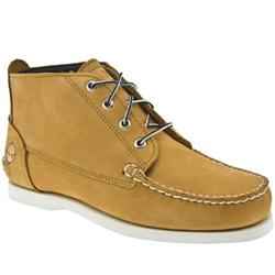 Male Classic Boat Chukka Nubuck Upper Casual Boots in Natural
