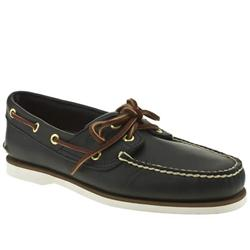 Male Classic Boat Leather Upper Fashion Large Sizes in Navy