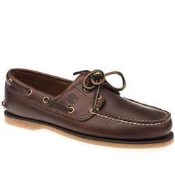 Male Classic Boat Leather Upper Lace Up Shoes in Brown