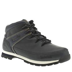 Male Eurosprint Denim Leather Upper Casual Boots in Navy