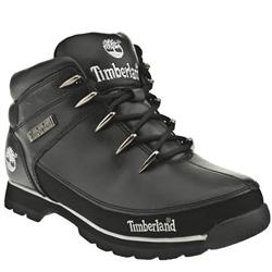 Male Eurosprint Leather Upper Casual Boots in Black and Silver