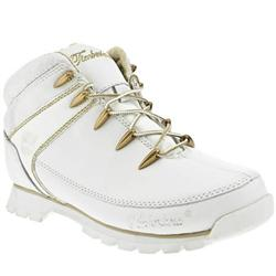 Male Eurosprint Lux Leather Upper Casual Boots in White and Gold