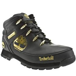 Male Eurosprint Tree Leather Upper Casual Boots in Black