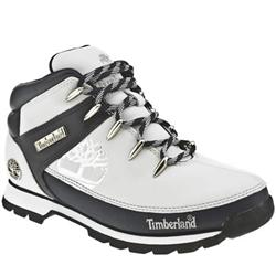 Male Eurosprint Tree Leather Upper Casual Boots in White and Navy