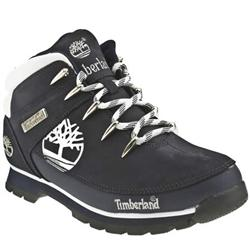 Male Eurosprint Tree Nubuck Upper Casual Boots in Navy and White