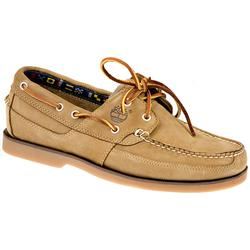 Male Kiawah Bay Leather Upper Textile Lining Comfort Large Sizes in Tan
