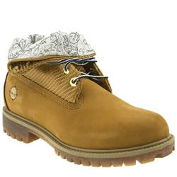Male Roll Top Nautica Nubuck Upper Casual Boots in Natural