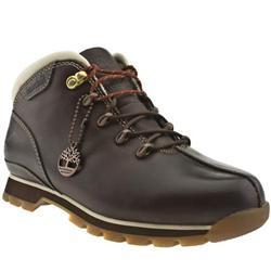 Male Splitrock Burn Leather Upper Casual Boots in Dark Brown, Natural