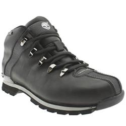 Male Splitrock Leather Upper Casual Boots in Black, Brown