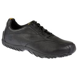 Male TIMMT55093 Leather Upper Textile Lining Lace Up Shoes in Black
