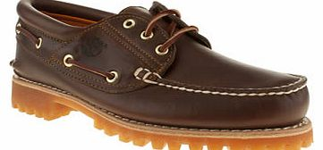 mens timberland brown rugged hand-sewn shoes