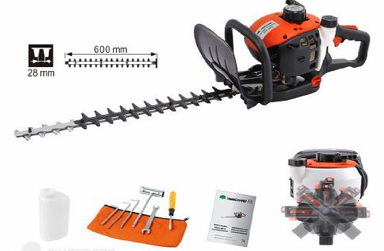 Hedge trimmer petrol-driven 25.4 cm³ with rotating handle , power 1.25 PK, blades 24 `` (60 cm)