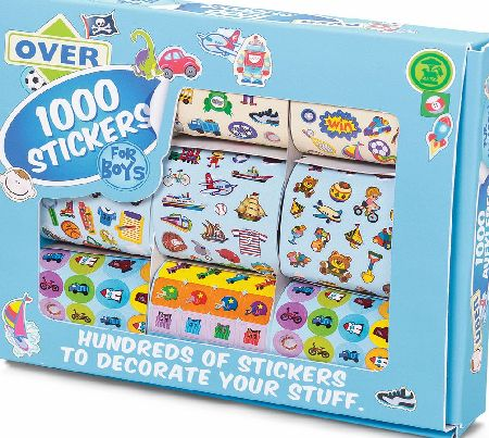 1000 stickers for boys - CLICK FOR MORE INFORMATION