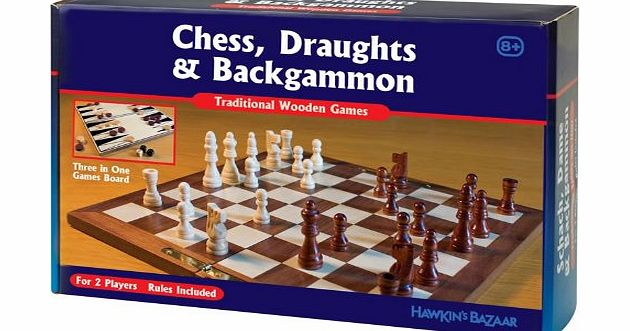 3 In 1 Classic Wooden Games - CLICK FOR MORE INFORMATION