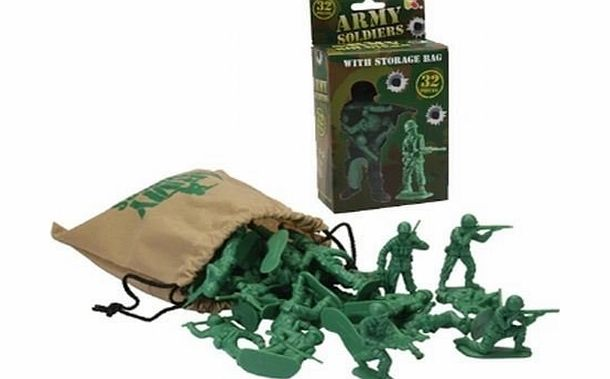Army Soldiers With Store Bag ~ 32 Pieces - CLICK FOR MORE INFORMATION