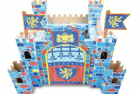 colour your own cardboard castle playset - CLICK FOR MORE INFORMATION